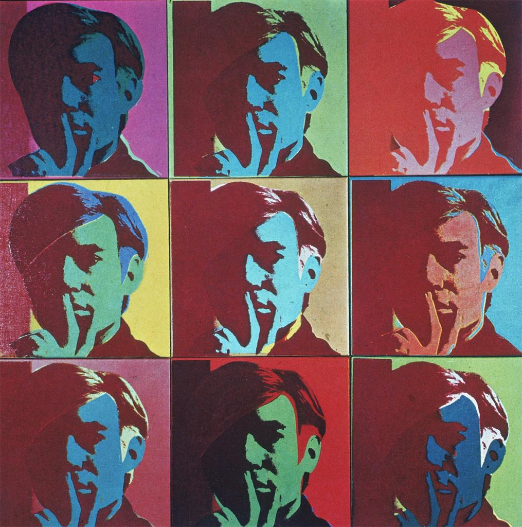9 Autoritratti - Self -Portrait - Andy Warhol -1966
