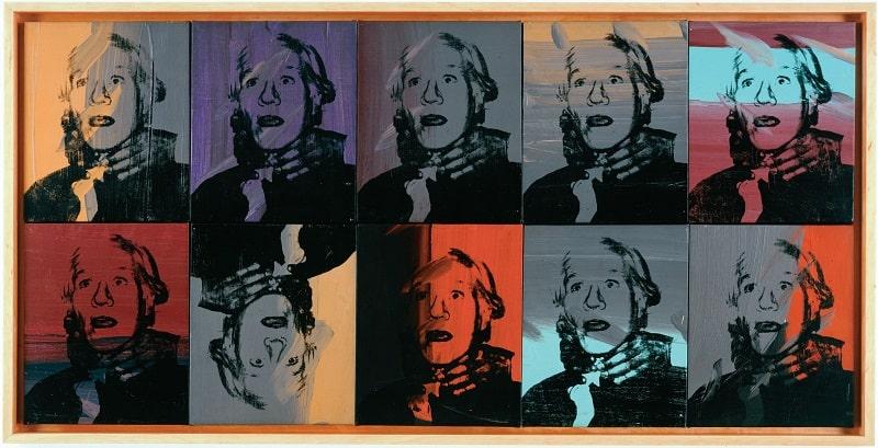 Warhol - Self Portrait - Strangulation - 10 Ripetizioni - 1978